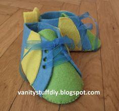 felt shoes     tutorial http://vanitystuffdiy.blogspot.com/2013/05/filcowe-buciki-dla-dzieci-tutorial.html