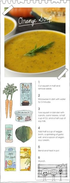 """Orange Soup""   Squash, carrots and a hint of orange"