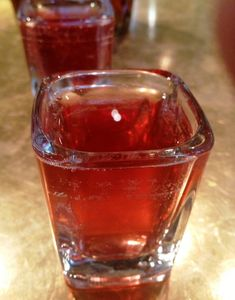 """Call Me Maybe"" Shot - Crown Royal, Peach Schnapps, and cranberry juice."