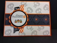 Halloween Hello Delightful Dozen Mojo Monday Stampin' Up! Rubber Stamping  Handmade Cards Halloween Cards