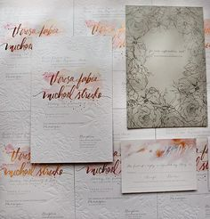 Breathtaking invitations by Momental Designs | via PLY: The Ultimate Paper Blog