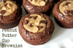 Peanut Butter Cup Brownies! Pull out your favorite boxed mix brownies and make this delicious, peanut buttery, chocolate treat in no time!