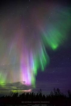 Keating Smith Photography The Easter coloured aurora borealis overtop of the Yellowknife Highway near Bechoko, NT. Amazing Sunsets, Amazing Nature, Northan Lights, Aurora Borealis From Space, Star Painting, Pretty Sky, Sistema Solar, Earth From Space, Night Skies