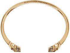 Alexander McQueen - Bracelet doré à têtes de mort