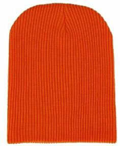 Fisherman Rib Long Double Layer Cuffable Blank Beanie Orange Hat    Price: $7.99 & FREE Shipping on orders over $35.