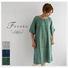 【Fanaka ファナカ】 コットン レース ミックス ワンピース (61-2631-101)