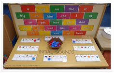 Initial sounds cards from You Clever Monkey. Teaching Phonics, Phonics Activities, Tricky Word Games, Phonics Display, Early Years Classroom, Eyfs Classroom, Initial Sounds, Play Based Learning, Reading Challenge