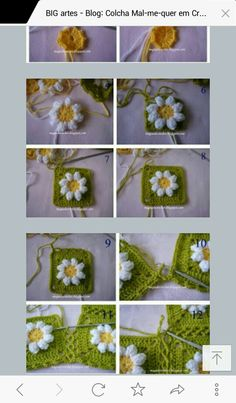 This Pin was discovered by Hat Crochet Coaster Pattern, Crochet Motif, Crochet Stars, Crochet Flowers, Granny Square, Easy Crochet Projects, Crochet Stitches Patterns, Crochet Videos, Beautiful Crochet