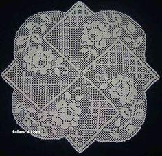 Crochet doilies square white-set x in Crochet Chart, Filet Crochet, Crochet Motif, Crochet Doilies, Crochet Lace, Crochet Stitches, Crochet Table Topper, Crochet Tablecloth, Doily Patterns