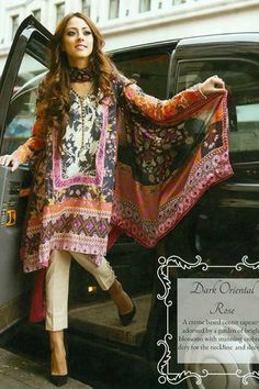 Linen suit with pashmina shawl Pakistani Couture, Pakistani Outfits, Indian Outfits, Stylish Kurtis, Indian Tops, Suits For Women, Clothes For Women, 2015 Fashion Trends, Desi Clothes