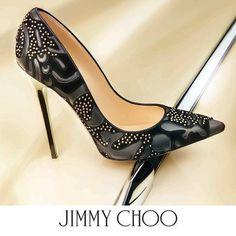 Lust Worthy Shoe - Jimmy Choo Abel Studded Flocked Pump