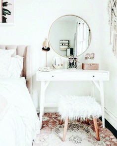 Shabby Chic Furnishing Bedroom Trends In 2018 Showing Off Nice Ideas . , Shabby Chic Furnishing Bedroom Trends In 2018 Showing Off Nice Ideas . Shabby chic furnishing bedroom trends in 2018 that show off great ideas. White Bedroom Vanity, Bedroom Desk, Small Room Bedroom, Trendy Bedroom, Home Decor Bedroom, Bedroom Furniture, Diy Home Decor, Diy Bedroom, Ikea Furniture