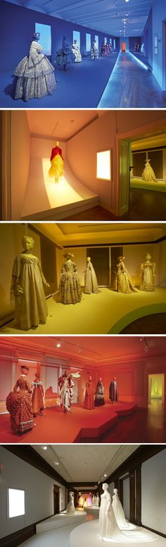 Cooper-Hewitt. Fashion in Colors. Exhibit Design From Behance