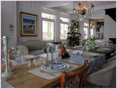 Dutch table at Christmas.....love it