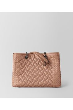 Dahlia Nappa Microstuds Tote featured by Bottega Veneta in dahlia. 4eeedeee50d9e