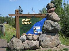 Grand Marais sign (must be pretty new - I haven't seen it)
