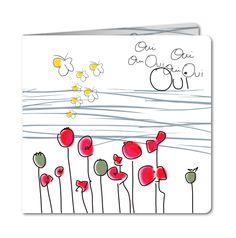 Faire part mariage nature, fleur et champêtre personnalisé │ Planet-Cards.com