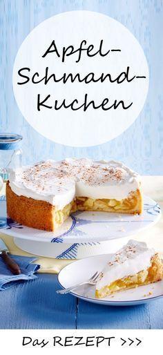 Unser <3-Kuchen des Tages: der Apfel-Schmand-Kuchen! Hier findest du das einfache REZEPT zum Nachbacken >>>
