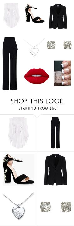 """""""Feeling like a BOSS"""" by renee-pea on Polyvore featuring Roland Mouret, Boohoo, Armani Collezioni and Lime Crime"""