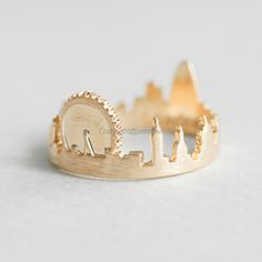 London ring/ Cityscape Ring,adjustable ring