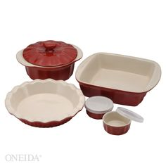 Ceramic Baking Set, 8pc  Who wouldn't love a matching set of wonderful bakeware?  I love the pie pan.