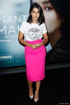 Leïla Bekhti le 2 septembre 2014 à Paris.