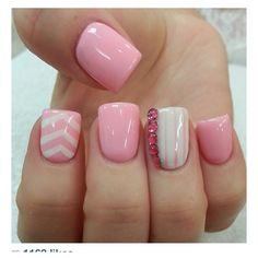 Hm, love chevron, maybe use one fake nail that is  | Finger nails Manicure Ideas | Nail fake nails