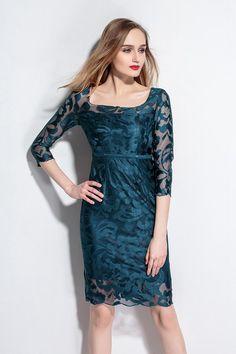 robe 2016 femmes à Patchwork de manches soie été Dentelle longues qgITAf