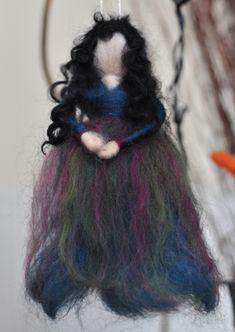 Dark Teal Fairy Felt Fairy, Leaf Garland, Flower Fairies, Dark Teal, Silk Flowers, Needle Felting, Hair Styles, Beauty, Hair Plait Styles