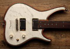 Insane Zerberus Guitar! A Zerberus Nemesis with White Italian | Reverb