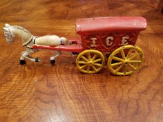 Vintage Cast Iron Horse Drawn Ice Wagon by 3LittleWitches on Etsy