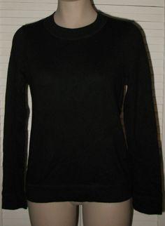 GAP CASHMERE BLEND Back Zip Sweater Misses L BLACK NWT
