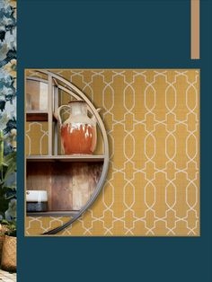 Yellow in décor is happy and chic! Yellow wallpaper dresses your home in sunny hues of optimism, providing an unexpectedly stylish compliment to white, neutrals, wood, and other colors. Sunny D, Under The Tuscan Sun, Optimism, Interior Styling, Neutral, Wall Decor, Wallpaper, Yellow, Stylish