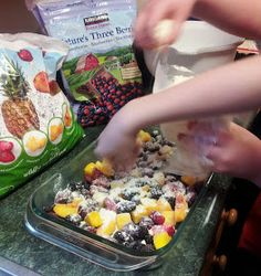 Debbi Does Dinner... Healthy  Low Calorie: Easy Fruit Dump Cake