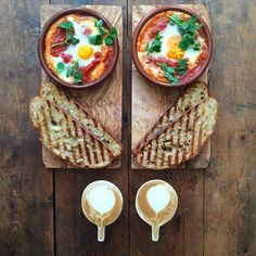 Instagram media symmetrybreakfast - Saturday: Baked Aivar eggs @pelagonia with toast and a coffee @sageappliances This is all that's needed to mop up the hangover #symmetrybreakfast #thankgoditstheweekend