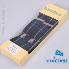 pure wool braces (suspenders) in Douglas Modern tartan from Scotclans