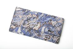 Blues & Browns Floral Pattern Trifold Wallet