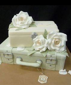 Gorgeous suitcase cake