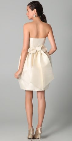 April Strapless Dress with Bow