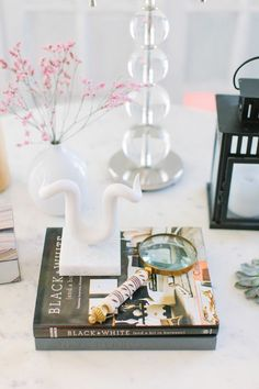 @Alaina Marie Kaczmarski Chicago Apartment Tour // living room // side table styling // photography by Stoffer Photography