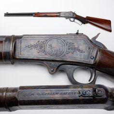 Marlin Rifle - Marlin offered the 1893 in the standard rifle, carbine… Survival Weapons, Weapons Guns, Guns And Ammo, Bushcraft, Lever Action Rifles, Gun Art, Custom Guns, Hunting Rifles, Cool Guns