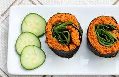 Raw carrot coriander rice.