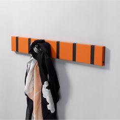 LoCa Knax Klädhängare Hot Orange med Svarta Krokar - danskdesign.nu Color Themes, Elegant, Locs, Aluminium, Grey And White, Orange, Retro, Modern, Inspiration