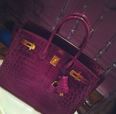 Wine-colored Hermès Birkin