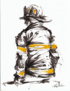 Want to try sketch this for practice Firefighter Crafts, Firefighter Apparel, Firefighter Paramedic, Firefighter Love, Volunteer Firefighter, Firefighter Tattoos, Firefighter Drawing, Fire Dept, Fire Department