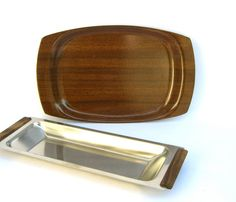 Faux Bois Tray Vintage Mid Century Pyrex by OurModernHistory, $12.00