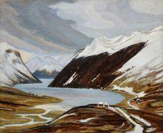 Adrian Allinson 1890-1959: Swiss Alpine Landscape