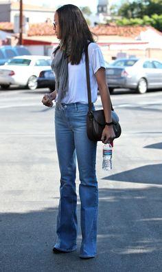 Zoe Saldana in MiH Jeans : Celebrities in Designer Jeans from Denim Blog (October 8, 2011)