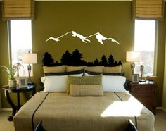 Vinyl Wall Decal Sticker Snow Mountain View with by Stickerbrand