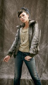 Teddy Smith, collection AH 12/13.    Blouson Burano. T-shirt Temby.Jean Pozzie straight.    #teddysmith #bluebox #apparel #woman #blouson #tshirt #jean